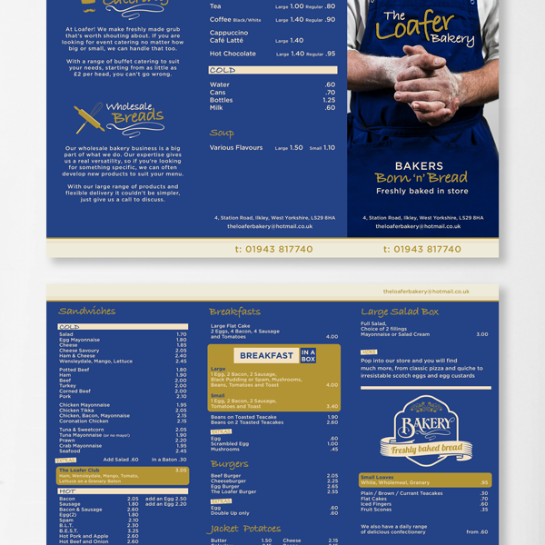 The Loafer Bakery 6 page brochure